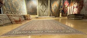 Exquisite Antique1920-1930s Wool Pile Natural Dye Legendary Hereke Rug 7x10ft