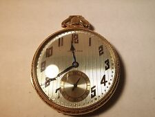 Hamilton 916 Pocket Watch 14K GF, 17 Jewels, USA MADE, running, needs cleaning,