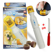 Pedi Paws Nail Trimmer Grinder Grooming Tool Clipper For Pet Dog Cat + Nail File