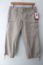 "NWT Juicy Couture Sexy Tan Khaki ""Freckle"" Cropped Pants Capris Trousers 8 $158"
