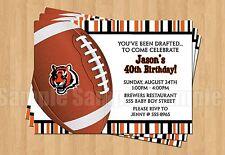 Cincinnati Bengals Birthday Party Football Super Bowl Invitations ANY AGE