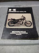 1978 Kz1000-B2 Kz1000 Ltd Assembly & Preparation Manual 99964-0029-01 (Fits: Kawasaki)