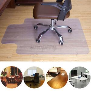 Non Slip Home  Office Chair Desk Mat Floor Computer Carpet Protector PVC Clear