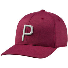 NEW Puma Rickie Fowler P 110 Pomegranate/Quarry Grey Snapback Adjustable Hat/Cap