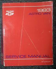 Atelier Manuel/Boutique Manual Chevrolet Asto Van 1993