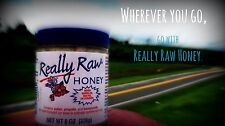 REALLY RAW HONEY with Bee Propolis & Pollen - 8 oz jar NEVER HEATED or STRAINED