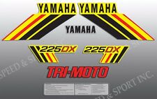 YAMAHA 1985 YTM225DX 225 DX TRI-MOTO DECAL GRAPHIC KIT LIKE NOS YELLOW MODEL