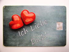 Silberbarren , Valcambi  , Geschenkkarte , Motiv : Liebe , # 12