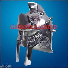 Mini Roman Gladiator Helmet, Chrome Plated Iron Steel Tabletop Decorative Helmet
