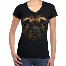 Unbranded Dogs V Neck T-Shirts for Women