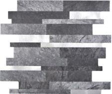 Selbstklebender Stab Wandbelag Steinoptik schwarz silber 200-32BSI10Mosaikmatten