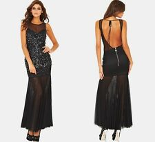 Lipsy VIP Sequin Detail Maxi Dress BNWT Size 10