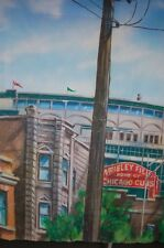 Massive Chicago Cubs Wrigley Field Ball Park Wrigleyville Painting on Canvas