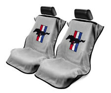 Seat Armour Universal Grey Towel Front Seat Covers for Mustang Pony -Pair