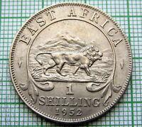 BRITISH EAST AFRICA GEORGE VI 1950 SHILLING, LION, AUNC