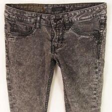 Ladies Womens FIRETRAP JEGGING Stretch Super Skinny Grey Jeans W28 L32 UK Size 8