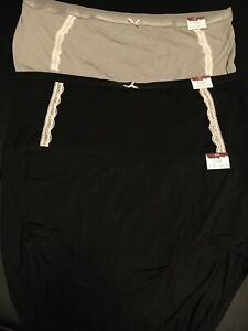 Lot Of 3 Cacique Lane Bryant Full Brief Panties Size 26/28 Extra Soft & No-show