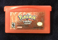 Pokemon Fire Red Authentic Nintendo Gameboy Advance Cartridge GBA - TESTED SAVES