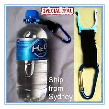ALUMINIUM SPRING WATER BOTTLE HOLDER CLIP CAMPING HYGIENE GADGET KEY RING CHAIN