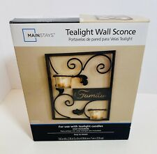 Mainstays Family Tealight Wall Sconce