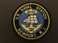 Us Naval Station Newport Rhode Island Patch Measures 4 1/2 Inches Diameter