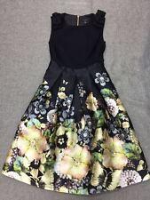 Ted baker Felcity Gem Gardens Pleated DRESS sz 5 UK 16