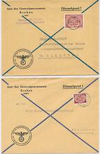 Poland Polen Polska  Generalgouverneurs Krakau Warschau Dienstpost Feldpost (317