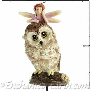 New Fairy Garden Fairy Georgetown/Fiddlehead  Woodland Owl with Fairy