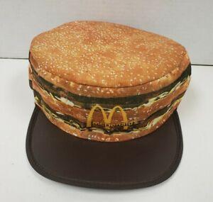 Vintage 1980's McDonald's Big Mac Painters Hat NOS 1984 original NEW & CLEAN