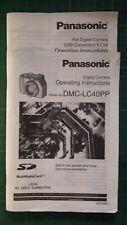 PANASONIC DMC-LC40PP Digital Camera Instruction Manual + USB Conn. Kit List