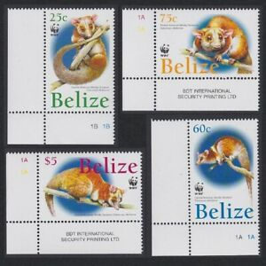 Belize WWF American Woolly Opossum 4v SW Corners 2004 MNH SG#1315-1318