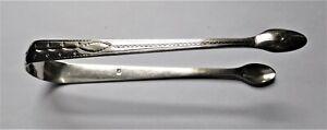 Antique sterling silver tongs Simon Harris c 1797 London U.K.