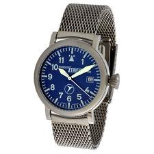 Analoge polierte Armbanduhren im Flieger-Stil mit Leuchtzeiger