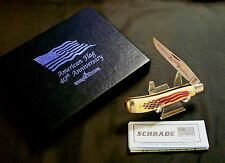 Schrade Locking Knife American Flag 40th Anniversary #2301 W/Packaging,Papers