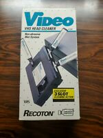 Recoton VHS Video Cassette Head Cleaner Non-Abrasive Wet System for VCR