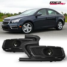 For 2015-2016 Chevy Cruze PAIR OE Factory Fit Fog Light Bumper Kit Clear Lens