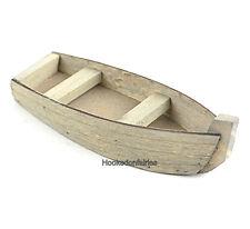 Wood Fishing Boat MI 85109 Miniature Fairy Garden Dollhouse