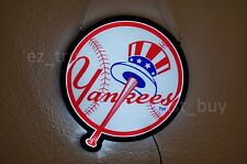 New York Yankees MLB Logo Man Cave LED Neon Sign 14""