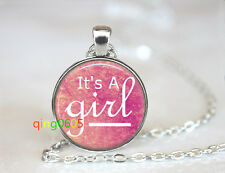 It's a girl jewelry glass dome Tibet silver Chain Pendant Necklace wholesale