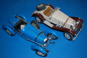 "BURAGO 3005/3009 - Bugatti Type ""59"" (1934) - Mercedes Benz SSXL 1931 scala 1/18"