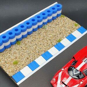 Reifenstapel XL für Autorennbahn 1:32 - 1:24 BLAU-WEISS - 99 cm - Tyre Wall