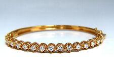 2.02ct Naturale Diamanti Bracciale Rigido 14 Carati