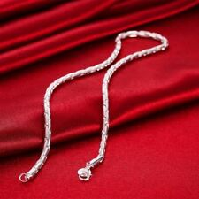 """Men's Silver Chain Necklace 4mm 20"""""""
