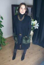 Silvian Heach Black Fur Pocket Long Line Waistcoat Size Medium