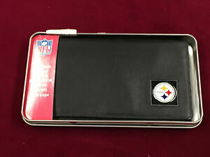 Leather Pittsburgh Steelers Siskiyou Wallet Checkbook Holder in Case (SC8)