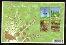 2010 Bloc n° 130 Salon du timbre 2010 doré  NEUF**LUXE