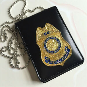 Fast and Furious Metal DSS Badge Card Holder Case Cosplay Prop Collectibles