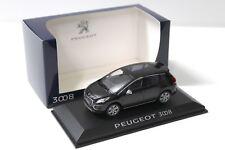 1:43 Norev Peugeot 3008 Black Dealer New chez Premium-modelcars