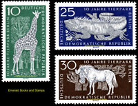 EBS East Germany DDR 1965 10th Aniversary Berlin Zoo Michel DDR1093-1095 MNH**