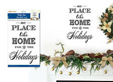 CHRISTMAS SONG wall sticker 1 decal festive quote NO PLACE LIKE HOME FOR HOLIDAY